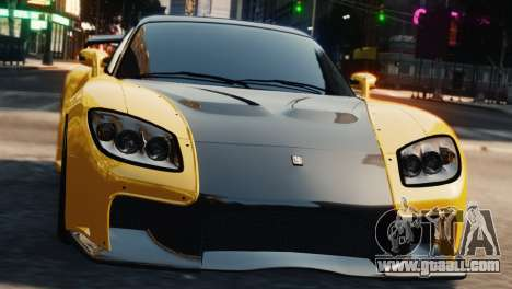 Mazda RX7 Veilside V8 for GTA 4 back view