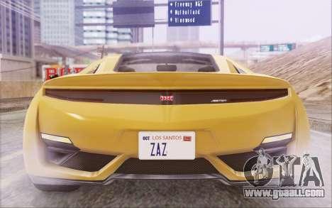 GTA V Dinka Jester IVF for GTA San Andreas inner view