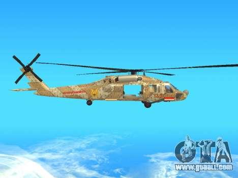 SH-60  Batik Indonesia for GTA San Andreas back view