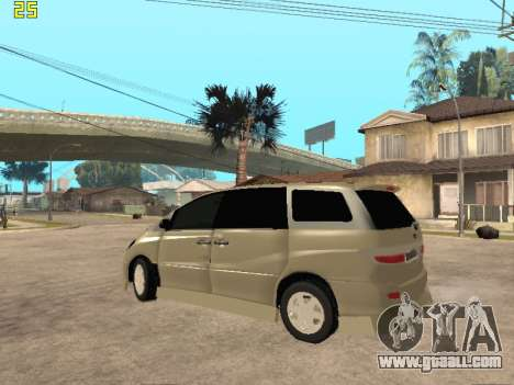 Toyota Estima Altemiss 2wd for GTA San Andreas back left view