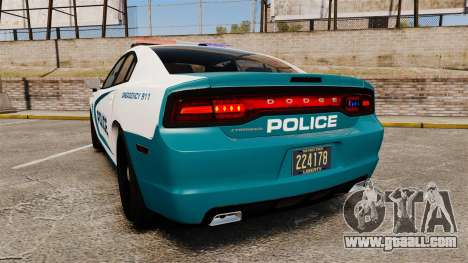 Dodge Charger 2013 Patrol Supervisor [ELS] for GTA 4 back left view