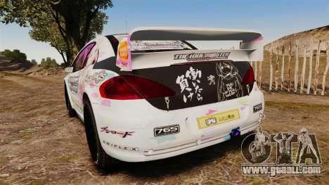 Peugeot 307 WRC The Idolmaster Cinderella Girls for GTA 4 back left view