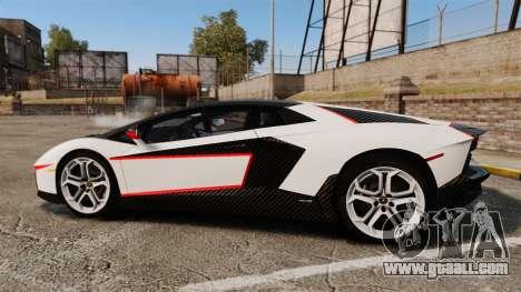 Lamborghini Aventador LP700-4 2012 Adidas Carbon for GTA 4 left view