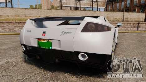 GTA Spano for GTA 4 back left view