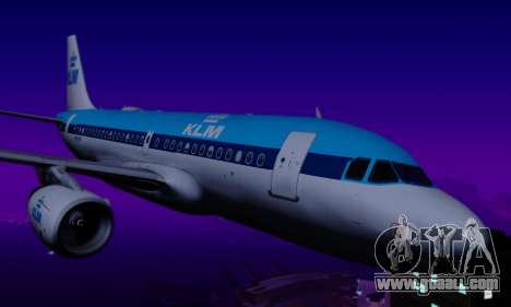Airbus A319 KLM for GTA San Andreas back view