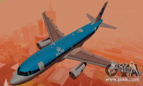 Airbus A319 KLM for GTA San Andreas engine
