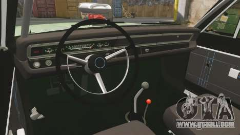 Dodge Dart 1968 for GTA 4 inner view