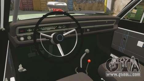 Dodge Dart 1968 for GTA 4 inner view