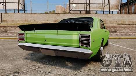 Dodge Dart 1968 for GTA 4 back left view
