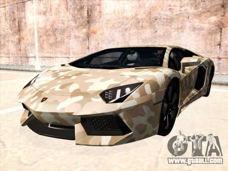 Lamborghini Aventador LP700-4 2013 for GTA San Andreas