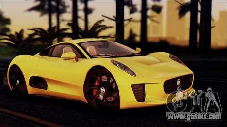 Jaguar C-X75 for GTA San Andreas right view