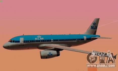 Airbus A319 KLM for GTA San Andreas wheels