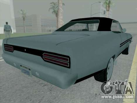 Plymouth Road RunneR GTX 1970 for GTA San Andreas back left view