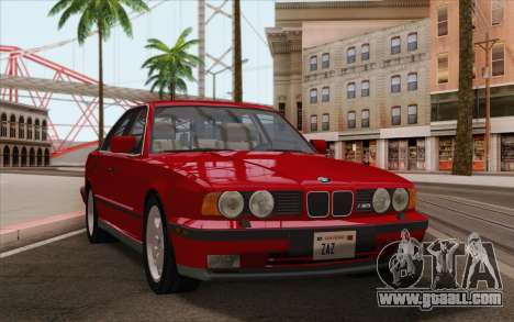 BMW M5 E34 1991 NA-spec for GTA San Andreas back left view