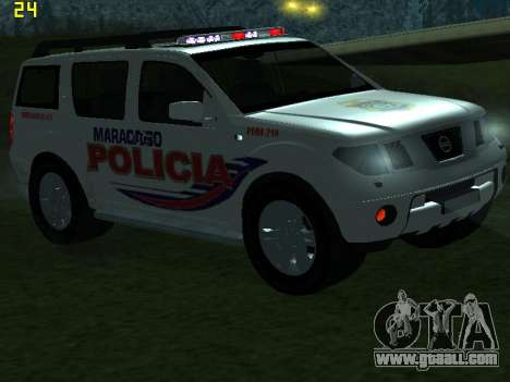 Nissan Pathfinder Polimaracaibo for GTA San Andreas bottom view