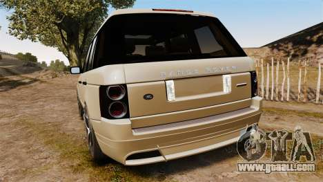Range Rover Supercharger 2008 for GTA 4 back left view