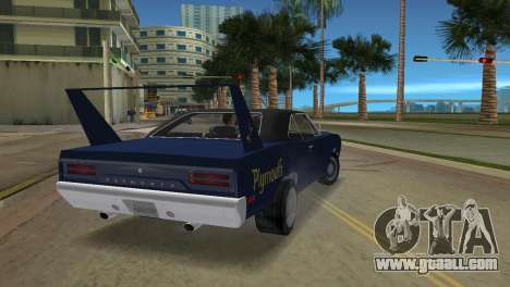 Plymouth Superbird for GTA Vice City left view