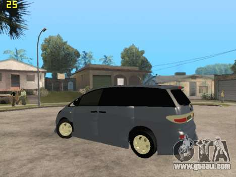 Toyota Estima Altemiss 2wd for GTA San Andreas side view