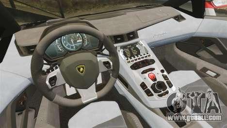 Lamborghini Aventador LP700-4 2012 Adidas Carbon for GTA 4 back view