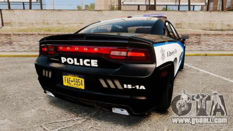 Dodge Charger 2013 Liberty City Police [ELS] for GTA 4 back left view