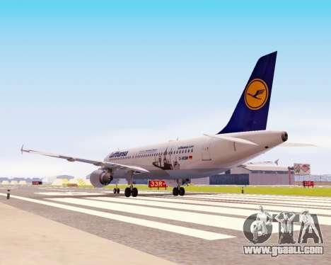 Airbus A320-200 Lufthansa for GTA San Andreas inner view