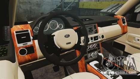 Range Rover Supercharger 2008 for GTA 4 inner view