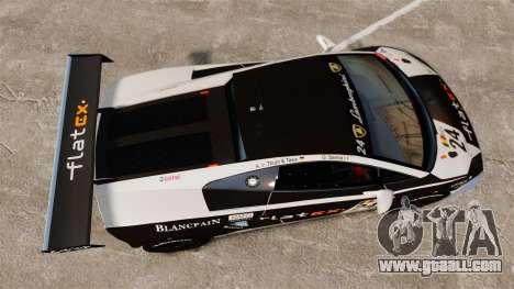 Lamborghini Gallardo LP560-4 GT3 2010 Flatex for GTA 4 right view