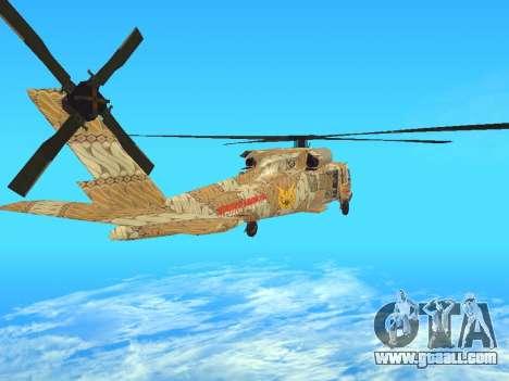 SH-60  Batik Indonesia for GTA San Andreas back left view