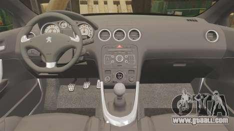 Peugeot 308 GTi 2011 Guardia Civil for GTA 4 side view