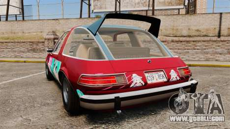 AMC Pacer 1977 v2.1 Mitchie M for GTA 4 back left view
