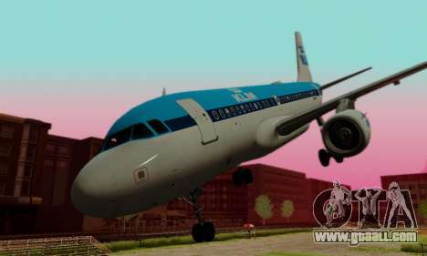 Airbus A319 KLM for GTA San Andreas side view