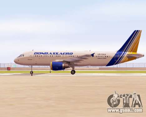 Airbus A320-200 Donbassaero for GTA San Andreas left view