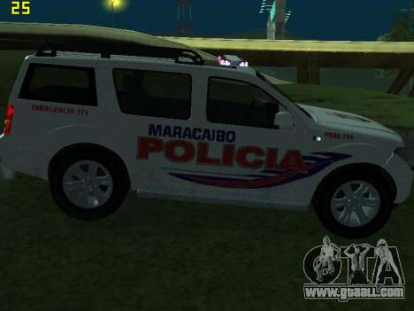 Nissan Pathfinder Polimaracaibo for GTA San Andreas side view