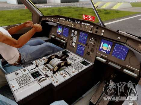 Airbus A340-600F DHL Buffalo for GTA San Andreas interior