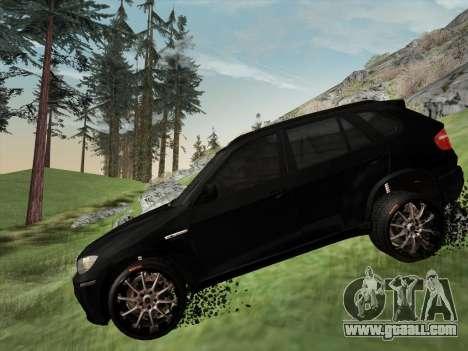 BMW X5M E70 2010 for GTA San Andreas upper view