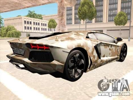 Lamborghini Aventador LP700-4 2013 for GTA San Andreas