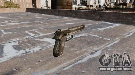 Self-loading pistol Beretta 92FS for GTA 4 second screenshot