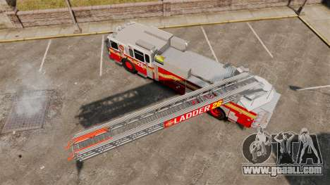 Ferrara 100 Aerial Ladder FDNY [working ladder] for GTA 4 right view