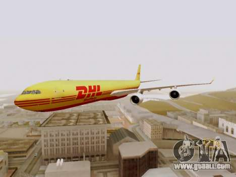 Airbus A340-600F DHL Buffalo for GTA San Andreas side view