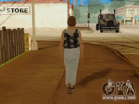 An elderly woman v.2 for GTA San Andreas eighth screenshot