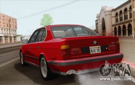 BMW M5 E34 1991 NA-spec for GTA San Andreas right view