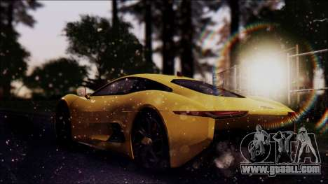 Jaguar C-X75 for GTA San Andreas left view