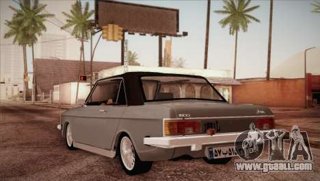 Peykan 80 Blackroof for GTA San Andreas back left view
