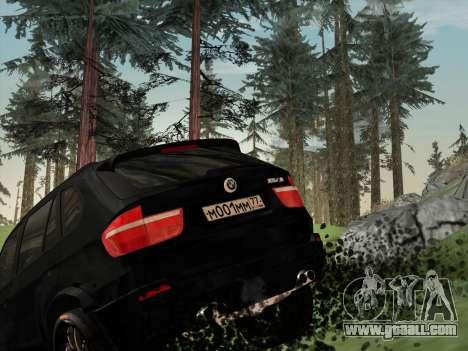 BMW X5M E70 2010 for GTA San Andreas bottom view