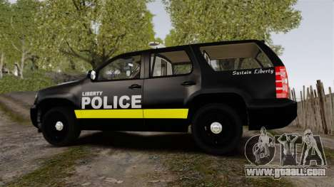 Chevrolet Tahoe 2008 LCPD [ELS] for GTA 4 left view