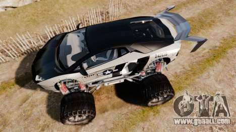 Lamborghini Aventador LP700-4 [Monster truck] for GTA 4 right view
