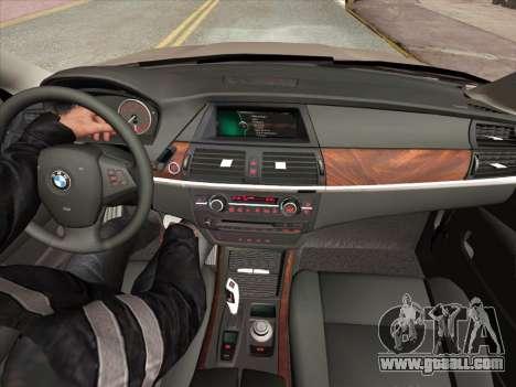 BMW X5M E70 2010 for GTA San Andreas interior