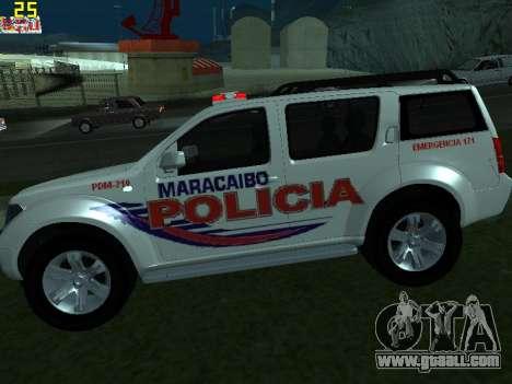 Nissan Pathfinder Polimaracaibo for GTA San Andreas left view