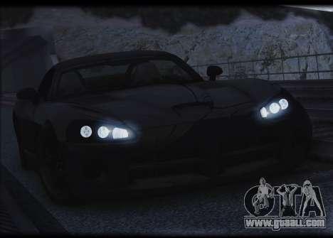 Dodge Viper SRT-10 for GTA San Andreas upper view