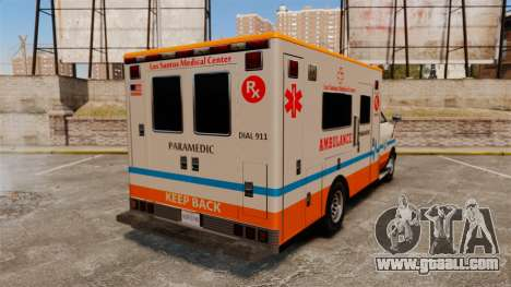 Brute LSMC Paramedic for GTA 4 back left view